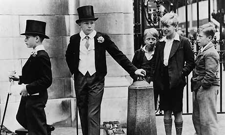 Eton Boys and Local Lads, London 1936Photograph: Jimmy Sime/Hulton/Getty