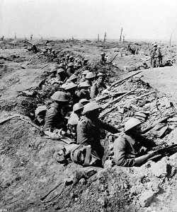 British Soldier trenchline, battle of the somme