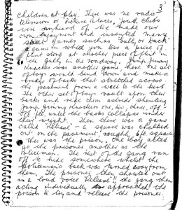 An extract of handwriting taken from the autobiography