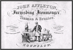 A_trade_card_for_John_Appleton_-_a_Hounslow_metalsmith_and_retail_ironmonger_-_1840