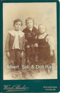 Molly Keen's cousins Albert, SId and Doll Ray were able to wear the fashion of the day.