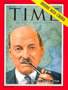 Former Prime Minister Clement Attlee (1883-1967) featured in Times Magazinne (c. June 1954)