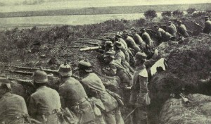 An example of a trench in France (c.1915) occupied by German Forces