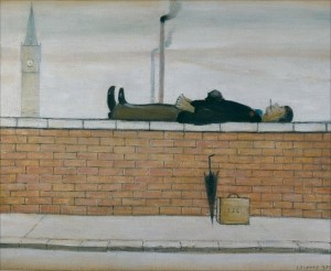 'Man Lying on a Wall', by L.S Lowry. Taken from his collection 'The Loneliness of L.S Lowry', 1968.