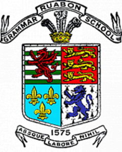 Ruabon Grammar School Crest. The Latin motto, when translated to English means - 'Without Work Nothing' - http://upload.wikimedia.org/wikipedia/en/thumb/f/fc/Rgs_badge.png/100px-Rgs_badge.png