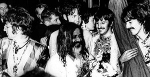 The Beatles with Maharishi Mahesh Yogi, 1967.