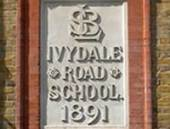 A plaque Ivydale Road School, where Robinson attended