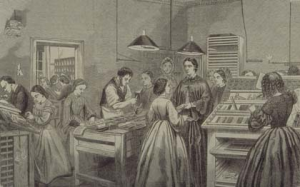 Depiction of the Victorian printing process. http://www.historyofwomen.org/faithfull.html