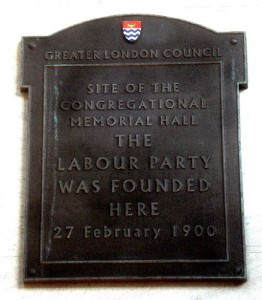 Labour Party Plaque from Caroone House, London
