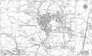 A map from 1909 of the village of Rhosllanerchrugog - http://www.francisfrith.com/rhosllanerchrugog/maps/