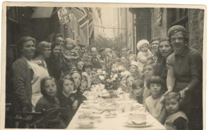 A street party celebrating King George V's Silver Jubilee