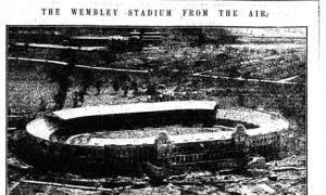 Image for the air of Wembley Stadium before the Fa Cup Final od 1923 - http://www.guardian.co.uk/theguardian/from-the-archive-blog/2011/may/23/guardian190-fa-cup-1923