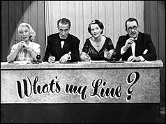 Gilbert Harding on famous television programme 'What's my Line? 1960.