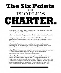 The Six Points of The People's Charter.