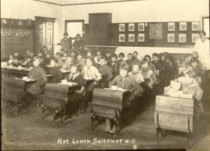 Young boys in a classroom