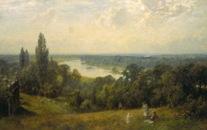 The Thames from Richmond Hill, London by Ernest Albert Waterlow