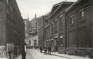 Southwark workhouse, Mint Street circa 1910. View from the southeast.