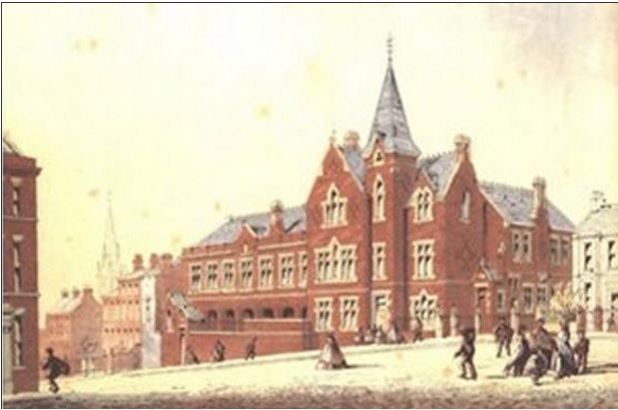 Brunswick Wesleyan School, Erskine Street, Kensington. Perhaps Agnes's school was similar to this.