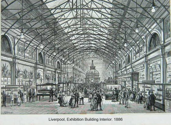 Liverpool Exhibition Building, 1886