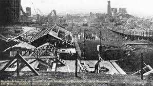An image of the explosion of Chilwell's Munitions factory discussed in Martin's memoir- www.picturethepast.org.uk