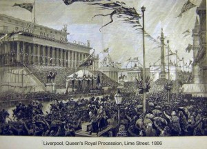 Queen Victoria's Royal Procession, Lime Street 1886
