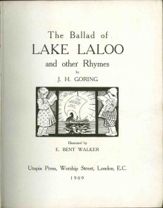 Inside cover of The Ballad of lake Laloo published in 1909.
