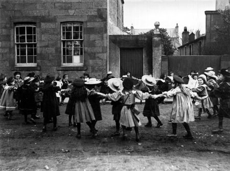 Victorian Children playing