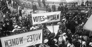 A Suffragette protest in London, 1928