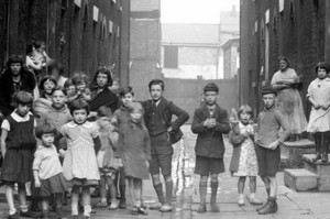 Children from 19th Century Liverpool at Scotland Road.