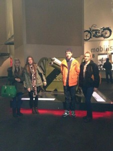 My research group at the Imperial War Museum in Salford, Manchester: (From left to right) Rebecca Corkill, Megan Ainsworth, Matthew Smith & myself.