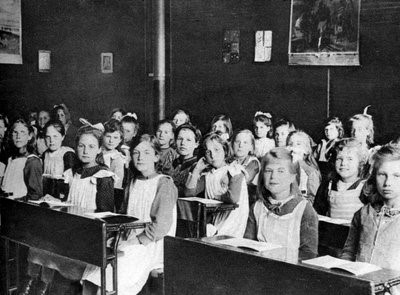 Barnardo's girls attending school (IMAGE CREDIT).