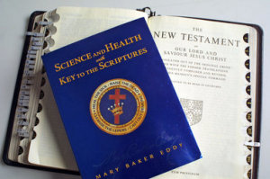"Christian Scientists use both the Bible and Mary Baker Eddy's book ""Science and Health"" as their key texts."