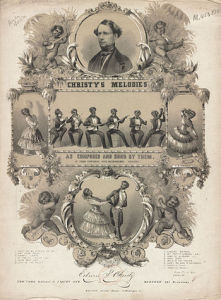 Christy Minstrels show in 1844