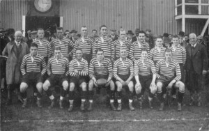 The 1930 Somerset side captained by Clifton's T.D.Corpe. Taken before match against Gloucestershire. Accessible at: http://www.cliftonrfchistory.co.uk/1930s/1930s.htm