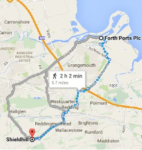 Shieldhill to Grangemouth Port.