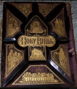 1892 Victorian Bible, Minnie would have learned to read from something similar to this one.