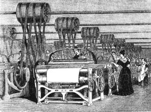 The invention of power looms