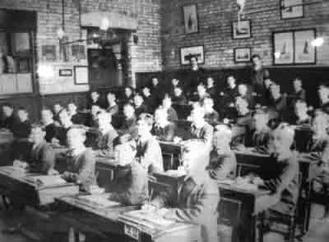 A typical twentieth century school room