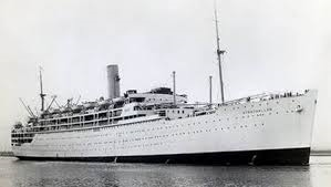 The Strathallen British Troop Transport Ship - Mary's husband was on board when it was torpedeod by German U-Boats in 1942.