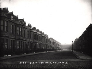 Terraced street in the neighbouring Jesmond area of Newcastle, WIlhelmina will have lived in houses very similar to these