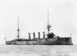 The HMS Hampshire, who when sunk, had Lord Kitchener aboard