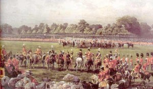 Queen Victoria presenting VC in Hyde Park, 26th June 1857
