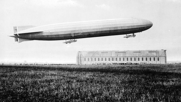 The Zeppelins were used to drop bombs during the early years of World War 1. Available at: http://www.bbc.co.uk/news/uk-scotland-25978256