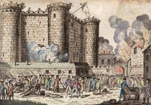 Storming of the Bastille prison, the opening event of the French Revolution, on July 14, 1789