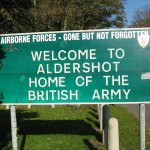 Aldershot still remains 'Home of the British Army' 103 years after Thomas enlisted and moved there.