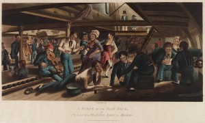A Scene on the Main Deck, 1824. The Mariners' Museum