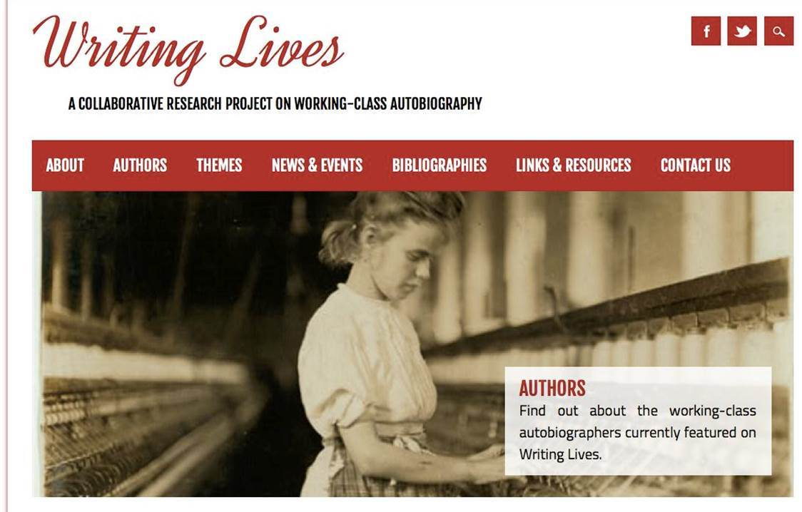 Writing Lives website