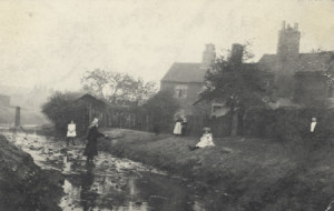 Photograph of Hockley Brook, Birmingham, 1907.