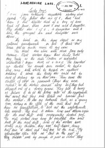 The first page of Mary's memoir.