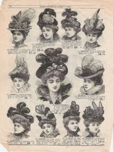 Picture hats, 1890s